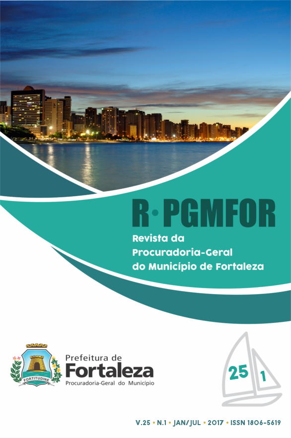 Revista da Procuradoria Geral do Município de Fortaleza, volume 25, número 1, janeiro a junho de 2017