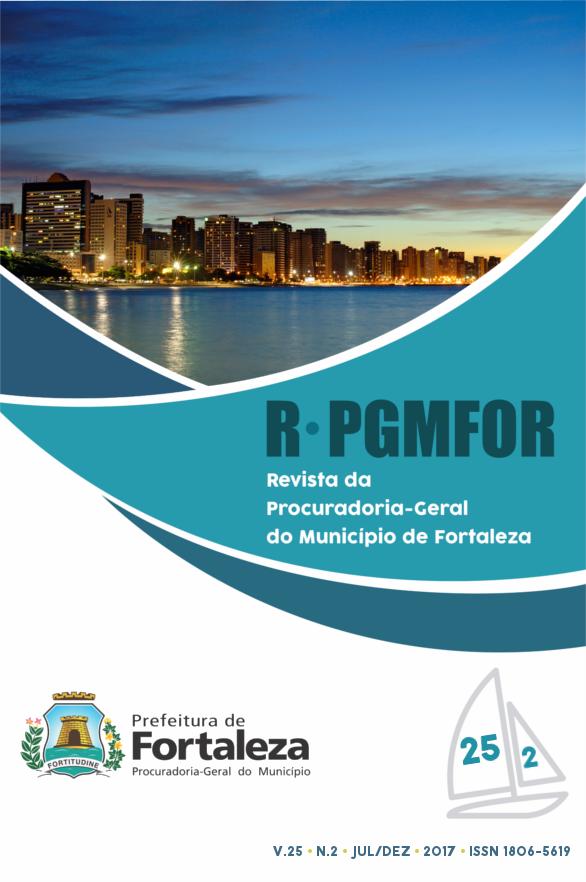 Revista da Procuradoria Geral do Município de Fortaleza, volume 25, número 2, julho a dezembro de 2017