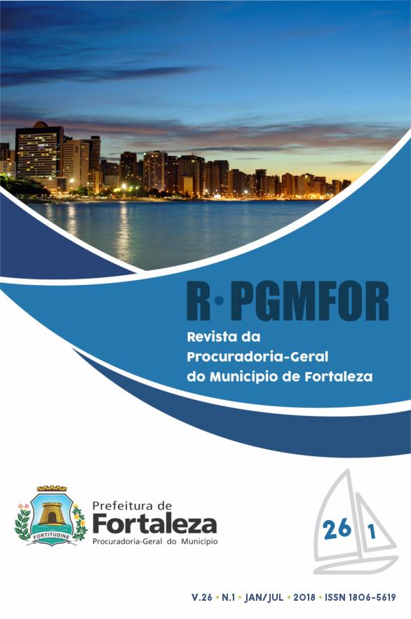 Revista da Procuradoria Geral do Município de Fortaleza, volume 26, número 1, janeiro a junho de 2018